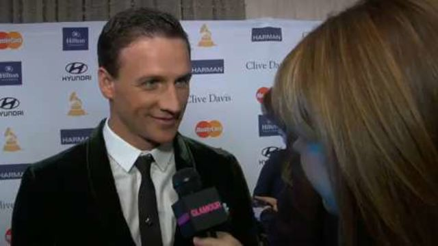 "CNE Video | Ryan Lochte Teaches Us How to Say ""Jeah!"" and More Behind-the-Scenes at the Clive Davis Grammy Party"
