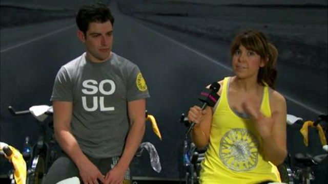 CNE Video   That Time We Took a (Very Intense!) Spinning Class With New Girl's Max Greenfield...Watch!