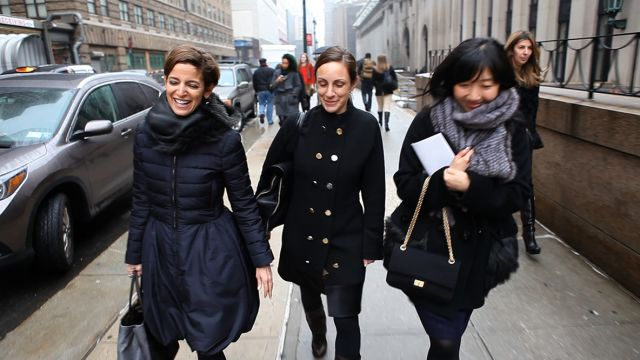 CNE Video | Glamour Editor in Chief Cindi Leive Fights Weather and Traffic to See Donna Karan's Collection