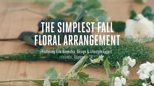 CNE Video | How To Make The Simplest Fall Floral Arrangement