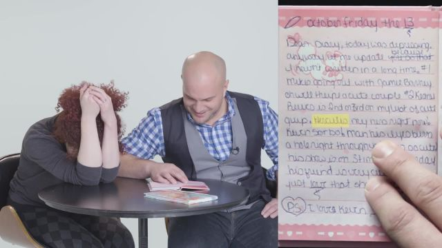 CNE Video   Guys Read Their Girlfriends' Old Diaries - Sarah & James