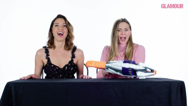 CNE Video | Aubrey Plaza and Elizabeth Olsen Review Kids' Toys