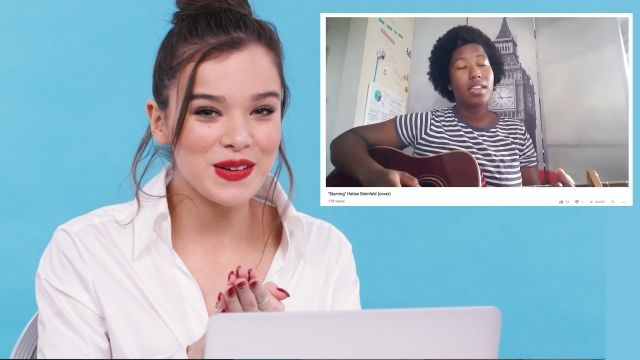CNE Video | Hailee Steinfeld Watches Fan Covers On YouTube