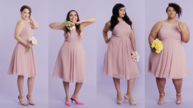 CNE Video | Women Sizes 0 Through 28 Try on the Same Bridesmaid Dress