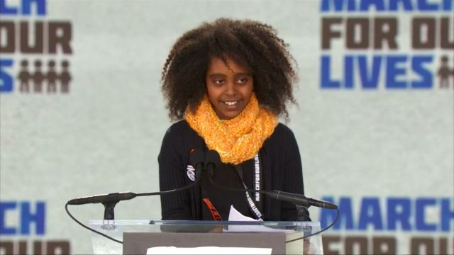 CNE Video | Naomi Wadler's Speech at March For Our Lives
