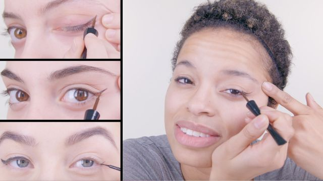 CNE Video | 50 Women Try a Cat Eye with Liquid Liner