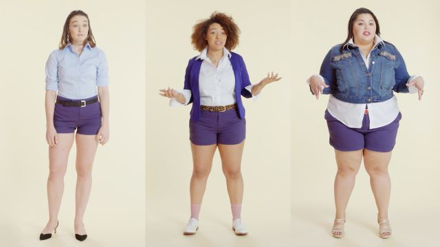 CNE Video | Women Sizes 0 Through 28 Try on the Same Shorts