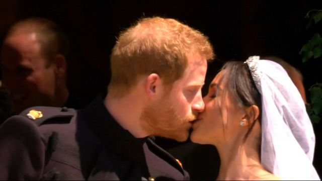 CNE Video | Prince Harry and Meghan Markle's First Kiss As Husband and Wife
