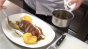 Charlie Palmer Makes Duck Breast with Roasted Peaches