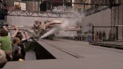 Giant Lego X-Wing Fighter Lands in Times Square