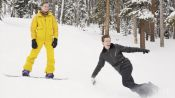 Hamish Bowles Learns How to Snowboard with Shaun White
