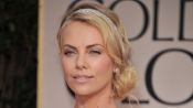 Hairstyle Tutorial for a Bun/Sparkly Headband Combo, Inspired by Charlize Theron's Red Carpet Classic