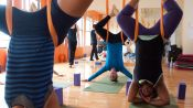 Laura Prangley Reacts to Aerial Yoga