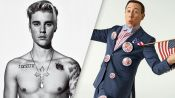 The Justin Bieber Tattoo Tour, brought to you by… Pee-wee Herman