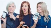 Grace Helbig, Hannah Hart & Mamrie Hart Show Us The Last Thing on Their Phones