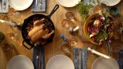 Slow Roasted Skillet Chicken with Mushrooms
