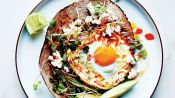 A Healthyish, Chile-Fried Egg Take on Breakfast Tacos