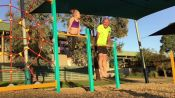 This Dad Tries (and Hilariously Fails) To Do All His Daughter's Gymnastics Tricks