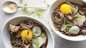 Soba and Mushrooms in Soy Broth