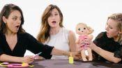 Mila Kunis, Kristen Bell and Kathryn Hahn Review Kids Toys
