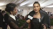 Bella Hadid on Her 10-Pound Sewn-In Veil
