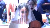 Meghan Markle Walks Down the Aisle