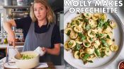 Molly Makes Orecchiette with Buttermilk, Peas, and Pistachios