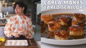 Carla Makes Seared Scallops with Brown Butter and Lemon Pan Sauce