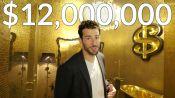 Inside a $12M NYC Loft with an Entirely Gold Bathroom