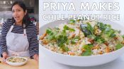 Priya Makes Chile Peanut Rice