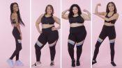 Women Sizes 0 Through 28 Try on the Same Sports Bra