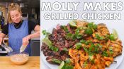 Molly Makes Coconut Grilled Chicken, Steak and Shrimp