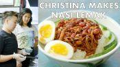 Christina Makes Nasi Lemak at Kopitiam
