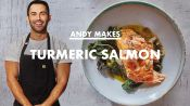 Andy Makes Turmeric Salmon With Coconut