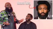 Childish Gambino's Natural Hair with a Part Haircut Recreated by a Master Barber