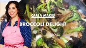 Carla Makes Cheesy Broccoli Delight at Home