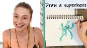 Euphoria's Hunter Schafer Draws Her Ideal Superhero and More