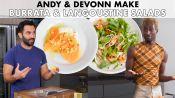 Andy And DeVonn Make Burrata & Langoustine Salads