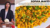 Sophia Makes Curry Cauliflower Rice