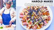 Harold Makes Steak Okonomiyaki (Japanese Pancake)