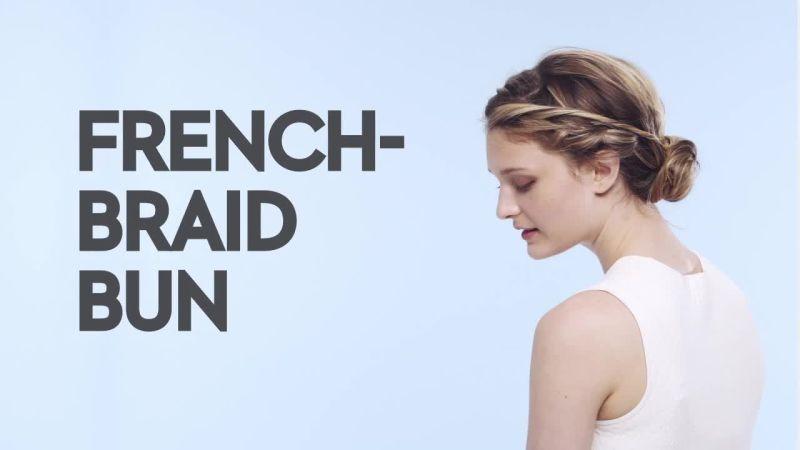 Watch Braids With Friends Braids With Friends FrenchBraid Bun - Bun hairstyle definition