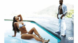 Reggie Bush's GQ Photoshoot with Kim Kardashian