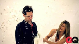 Behind the Scenes with Paul Rudd and Jennifer Aniston at their March '12 GQ Shoot