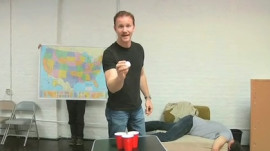 GQ Plays Beer Pong With The 'Super Size Me' Guy