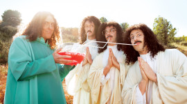 """Weird Al"" Yankovic and the Lonely Island for GQ's Comedy Issue - June 2013"