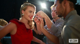 Margot Robbie Poses for the Vanities Opener