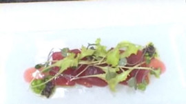 Shea Gallante of Cru Makes Crudo with Red Apple Vinaigrette