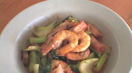 Charles Phan's Stir-Fried Shrimp with Bok Choy and Shiitake