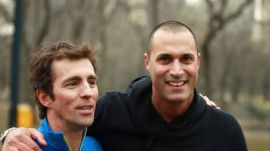 "Nigel Barker Explains His ""Fashion Mullet"" to James in Central Park"