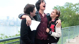 """The Perks of Being a Wallflower"" Photo Shoot with Emma Watson, Ezra Miller and Logan Lerman"